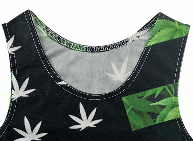 Murica' USA Weed Themed 3D Print Canna Leaf Men's Tank Top