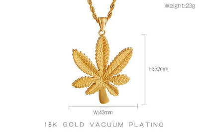 1 Piece Marijuana Leaf Jewelry 420 Pendant Necklace