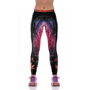 Pot Leaf Leggings 3D Print Pot Printed Nice Space Women Slim Fitness Leggings