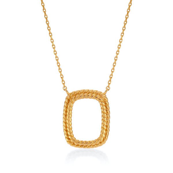TWIRL NECKLACE - 18 KARAT GOLD VERMEIL