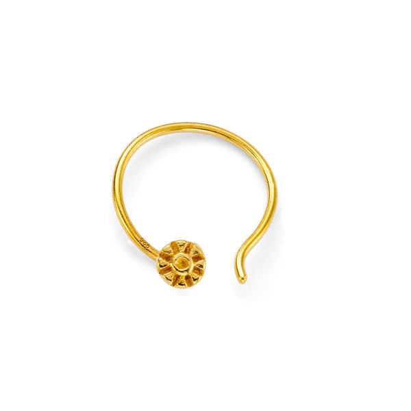 NEW 79 SILKA NOSE STUD - 18 KARAT GOLD VERMEIL