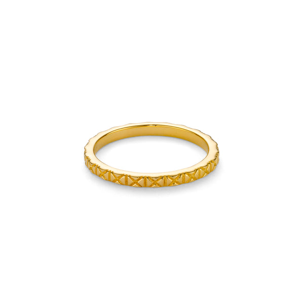 79 X ENGRAVED RING - 18 KARAT GOLD VERMEIL