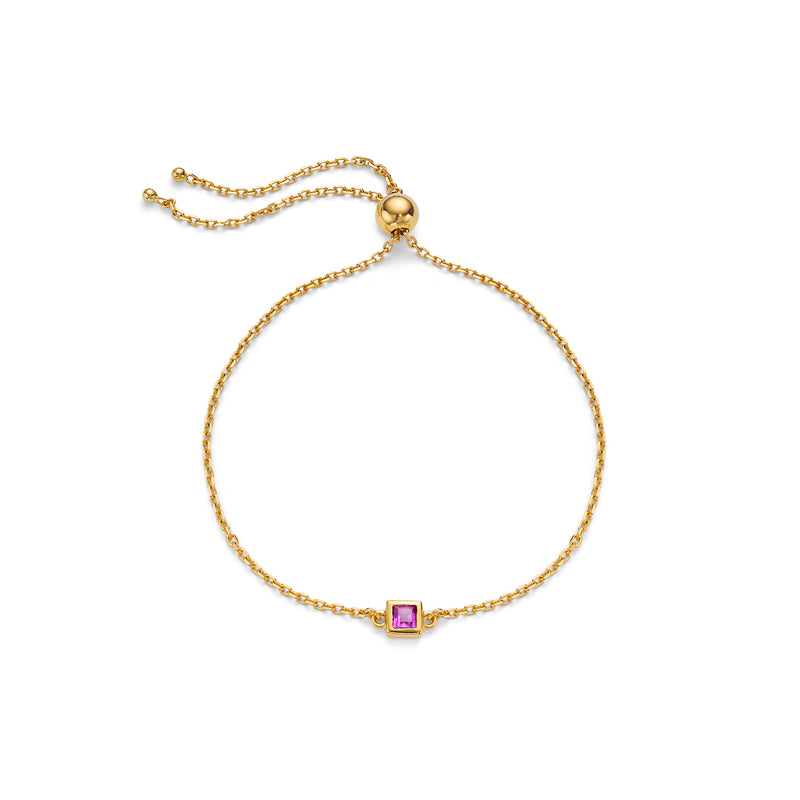 NEW ELEMENT AMETHYST BRACELET - 18 KARAT GOLD VERMEIL