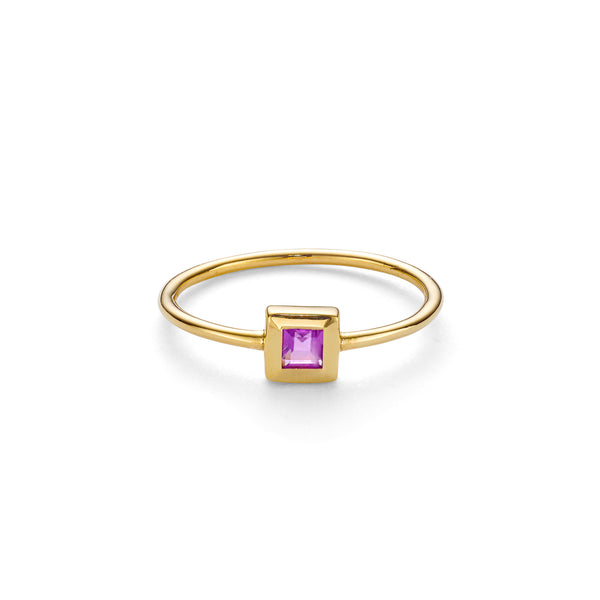 ELEMENT AMETHYST RING - 18 KARAT GOLD VERMEIL