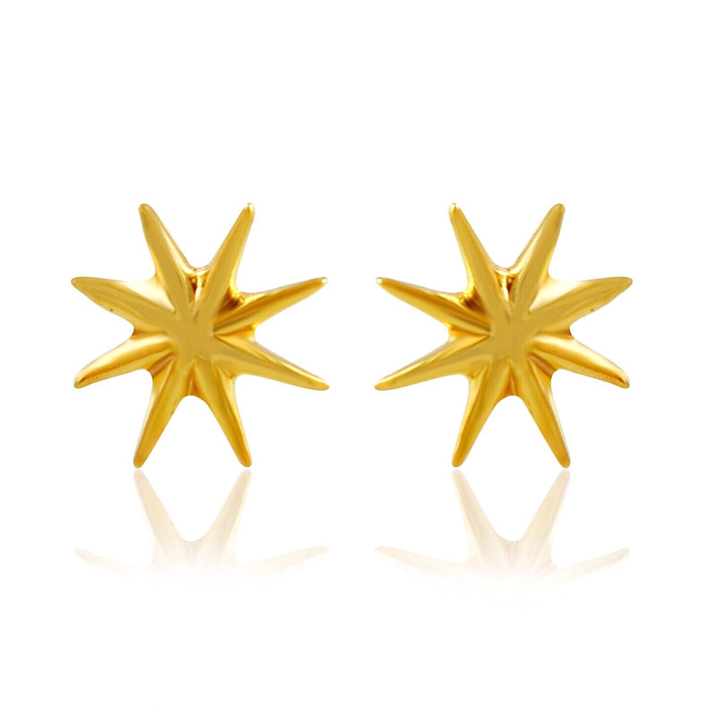 STELLAR STUDS - 18 KARAT GOLD VERMEIL - CHARITY DONATION: 10% of Profits will be donated to Educate Girls