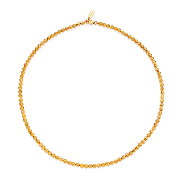 LUNE ENGRAVED SPHERE CHAIN - 18 KARAT GOLD VERMEIL