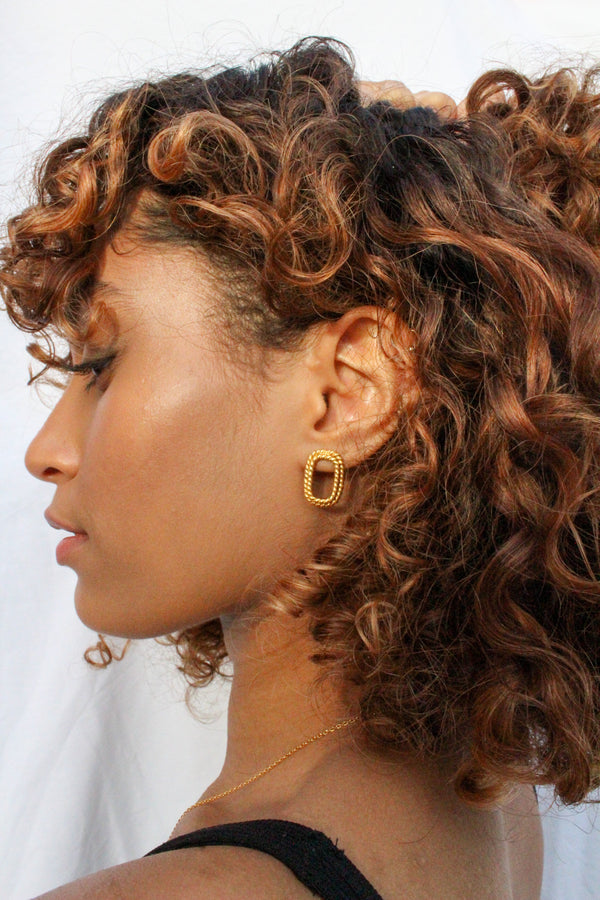 TWIRL EARRINGS - 18 KARAT GOLD VERMEIL