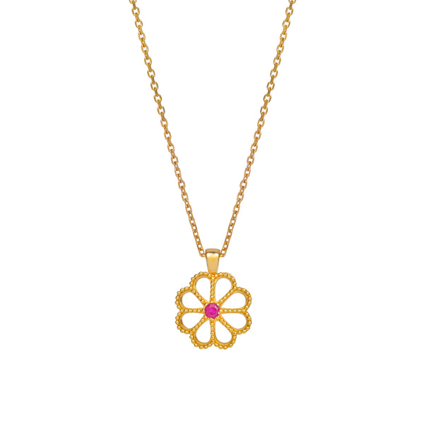 JASMINE RUBY NECKLACE - 18 KARAT GOLD VERMEIL
