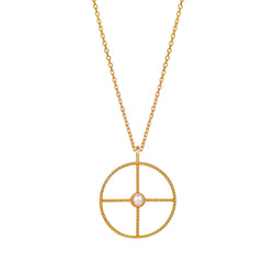 NEW LA PERLE HALO NECKLACE - 18 KARAT GOLD VERMEIL