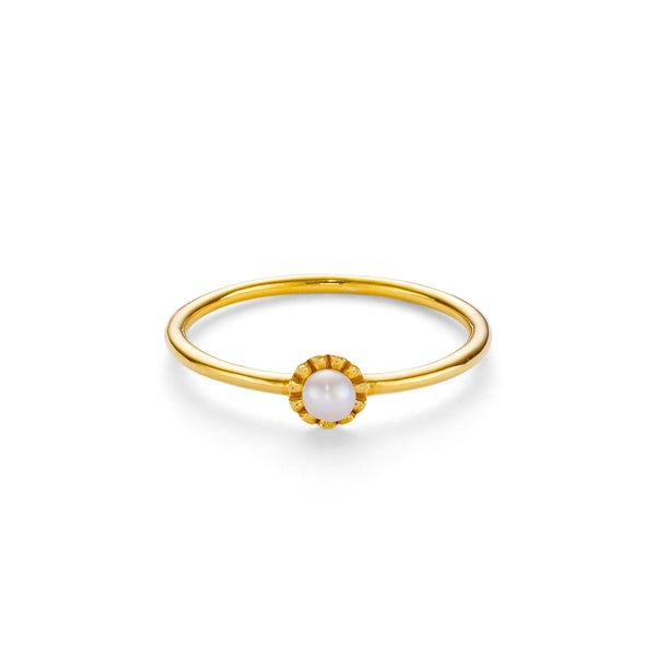 NEW LA PERLE RING - 18 KARAT GOLD VERMEIL
