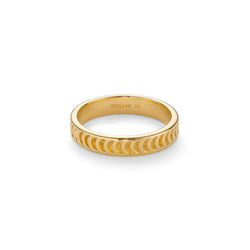 LUNE CRESCENT RING - 18 KARAT GOLD VERMEIL