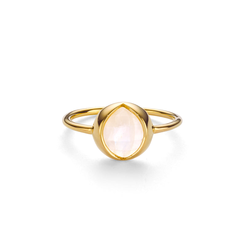 LUNE RAINBOW MOONSTONE RING - 18 KARAT GOLD VERMEIL