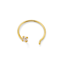 NEW PRECIOUS DIAMOND NOSE STUD - 18 KARAT GOLD VERMEIL
