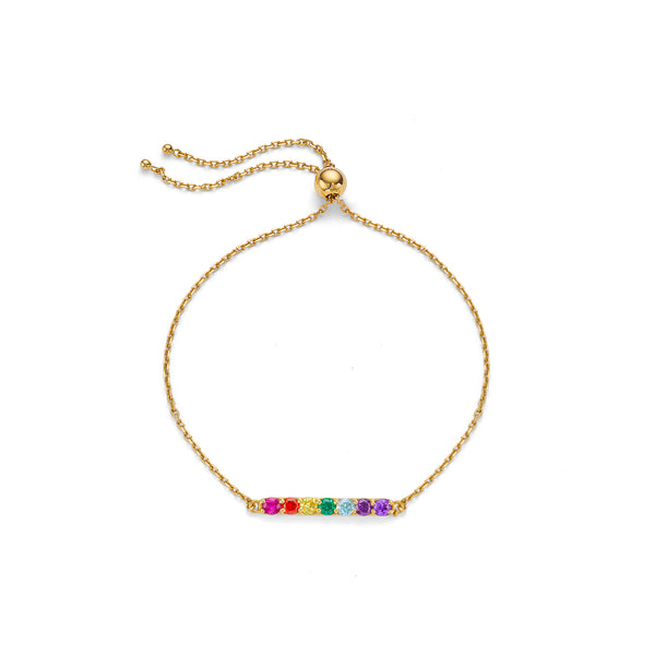 SPECTRUM BAR BRACELET - 18 KARAT GOLD VERMEIL
