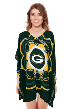 Limited Edition, Officially Licensed Green Bay Packers Caftan One Size / Green