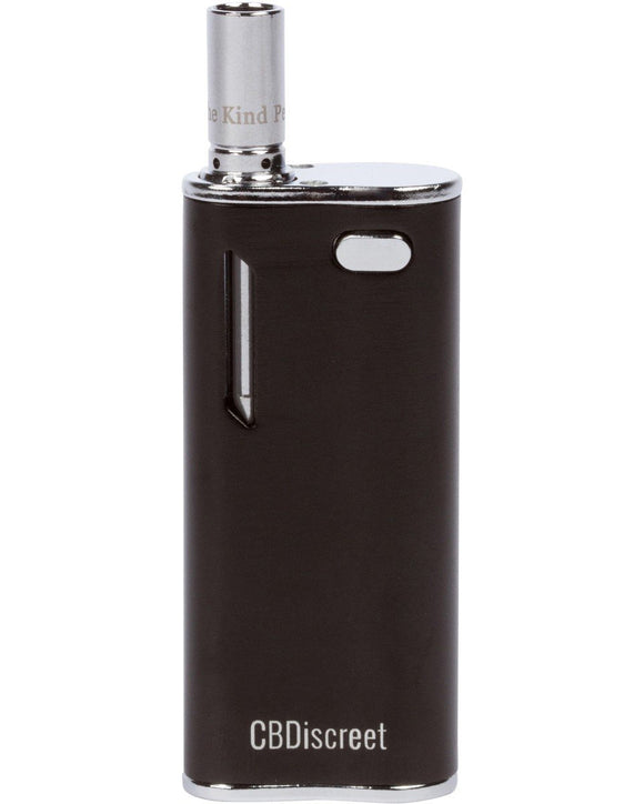 The Kind Pen Discreet Vaporizer - Black Showing Side View of Liquid Chamber Window