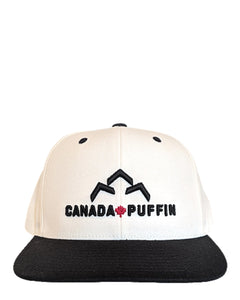 Front view of Canada Puffin Snapback Cap