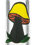 "Smokin' Buddies 10"" Twist Water Pipe Randomly Selected Mushroom Logo Close Up"