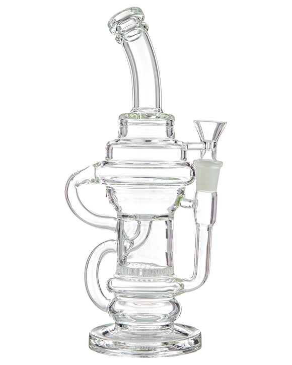 Incycler Water Pipe w/ Honeycomb Perc - Detailed View