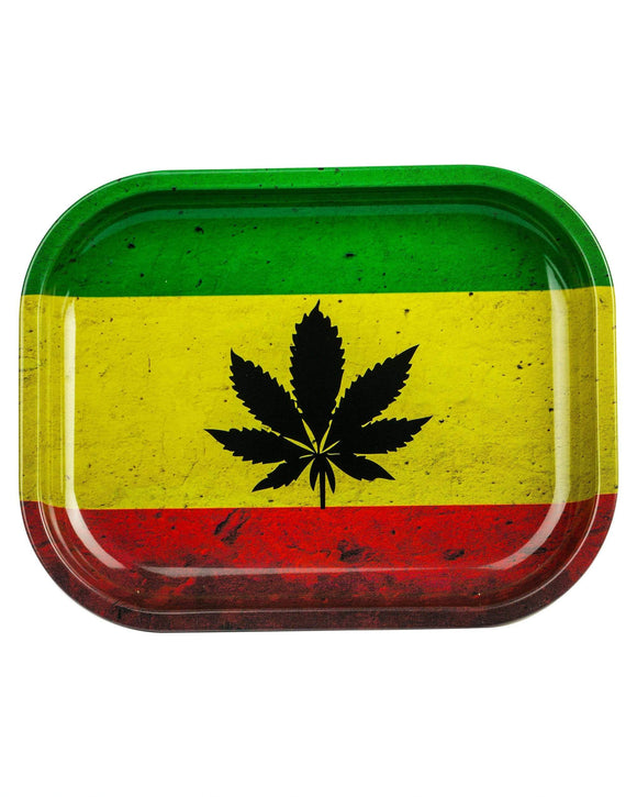 Rasta Maple Leaf Tray