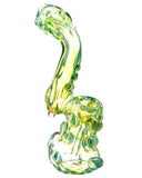 "Side view of  green Smokin' Buddies ""Rocky Ring"" Fumed Sherlock Bubbler."
