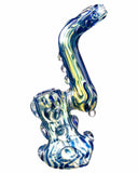 "Another side view of  blue Smokin' Buddies ""Rocky Ring"" Fumed Sherlock Bubbler."