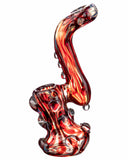 "Another side view of  red Smokin' Buddies ""Rocky Ring"" Fumed Sherlock Bubbler."
