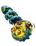 Empire Glassworks Dragon Wrapped Glass Pipe Front View
