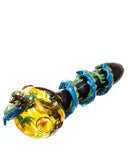 Empire Glassworks Dragon Wrapped Glass Pipe Front Side View