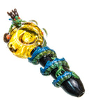 Empire Glassworks Dragon Wrapped Glass Pipe Top View