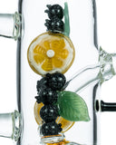 Empire Glassworks Fruity Detox Water Pipe - Worked Glass Blueberries