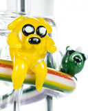 Empire Glassworks Land of Ooo Mini Water Pipe - Jake the Dog Close Up