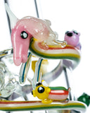 Empire Glassworks Land of Ooo Mini Water Pipe - Adventure Time Worked Glass Unicorn