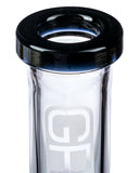 Grav Labs Black Accented Beaker Water Pipe with Inverted Restriction - Flared Mouthpiece