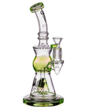 Icon Slyme Accented Cone Perc Water Pipe - Slyme Green