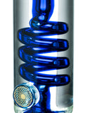 Nucleus Glycerin Coil w/ Colored Inline Perc Water Pipe - Glycerin Coil Close Up