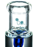 Nucleus Glycerin Coil w/ Colored Inline Perc Water Pipe - Flared Mouthpiece