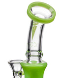 Icon Glass Alien Head Perc Water Pipe - Flared Mouthpiece Close Up