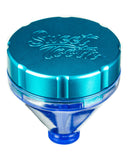 "Teal ""Fill 'er Up"" Funnel Style Aluminum Grinder"