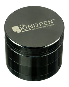 The Kind Pen Tri-Level Herb Grinder - Gun Metal Grinder Shown with Lid Closed