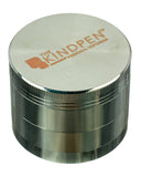 The Kind Pen Tri-Level Herb Grinder - Silver Grinder Shown with Lid Closed