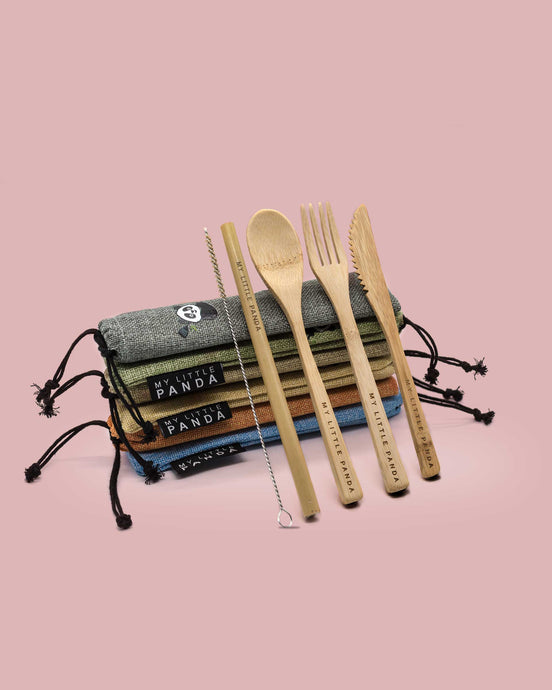 Compact Bamboo Travel Set