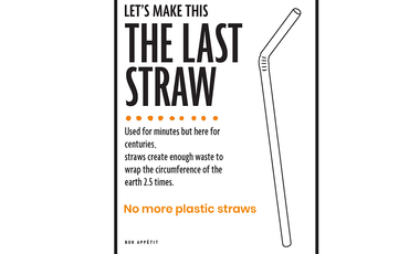 The negative impact of plastic straws