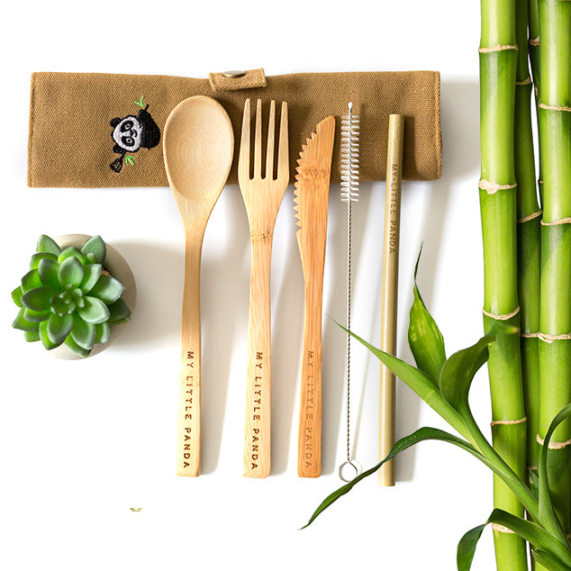 bamboo is also tremendously sturdy and durable. This means you can enjoy your bamboo cutlery set daily