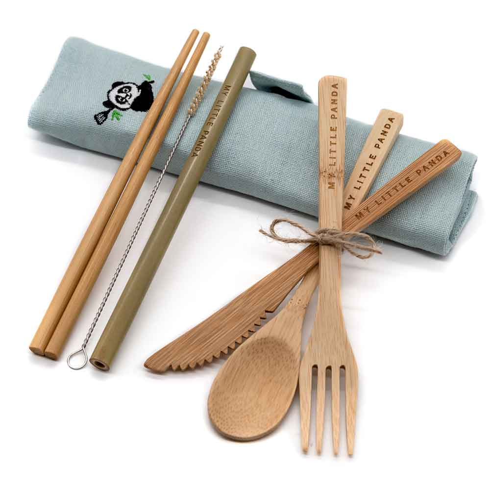 My Little Panda's Bamboo Travel Cutlery Set