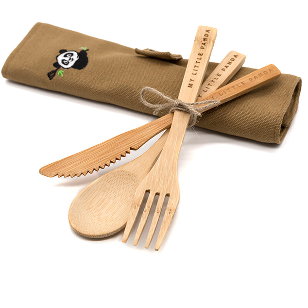 My Little Panda Bamboo Travel Set | Cutlery Crafted from Natural Bamboo