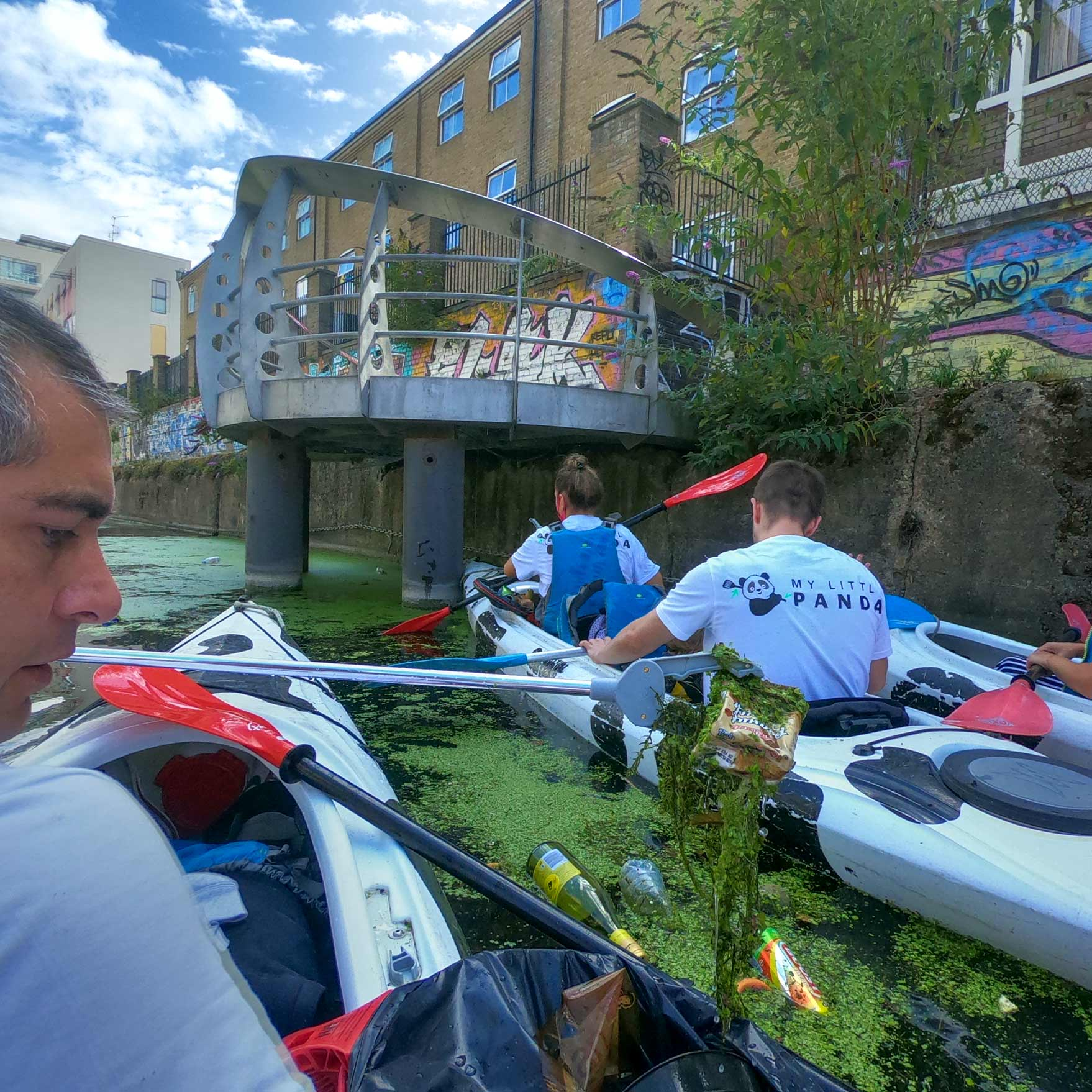 My Little Panda event - Cleaning River Thames from plastic