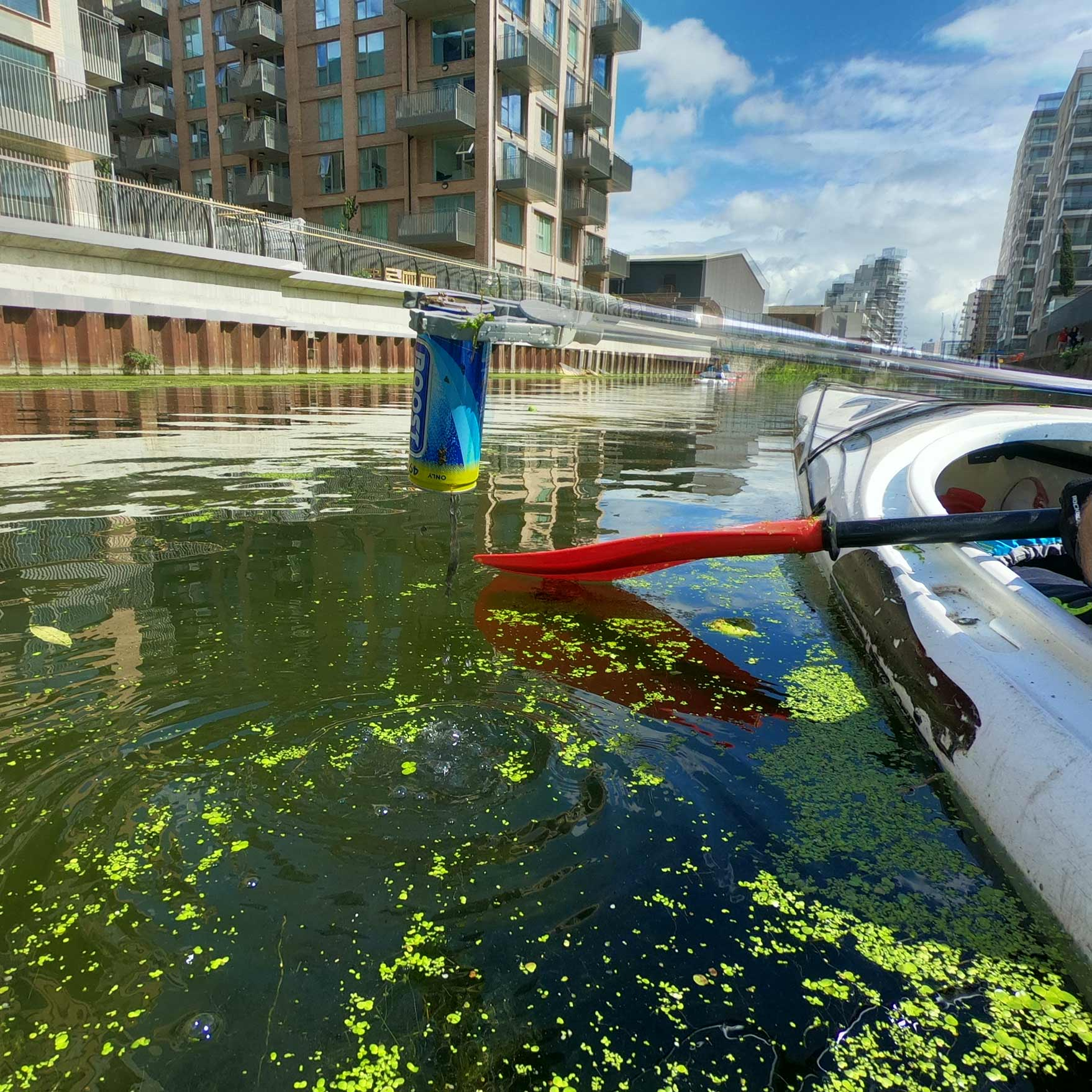 Plastic in River Thames Limehouse London