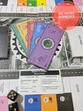 Load image into Gallery viewer, Black Wall Street The Board Game uses real historic businesses