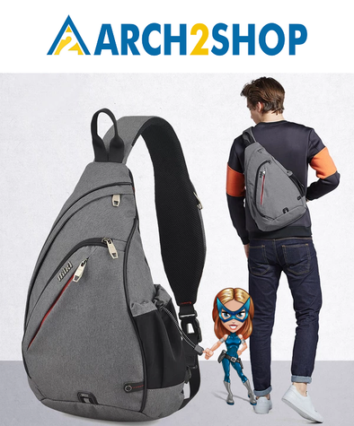 Men One Shoulder Backpack Bag Boys Work Travel Versatile